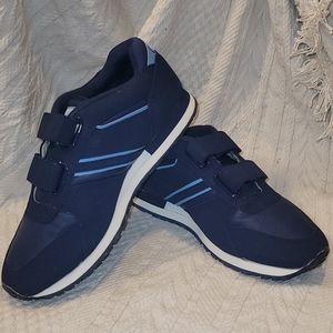 Omega Lt & Dark Blue Dual Strap Men's Shoes 7.5EEE